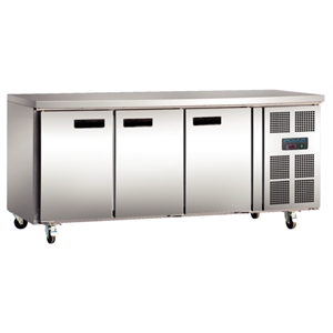 Polar 3 Door Counter Fridge 417Ltr Stainless Steel