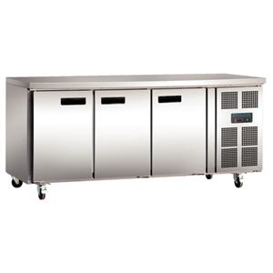 Polar 3 Door Counter Fridge 417Ltr Stainless Steel